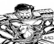 iron man retire son casque superheros coloring pages