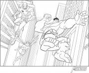iron man avengers avec hulk superheros coloring pages