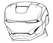 Iron Man Helmet a4 avengers marvel coloring pages