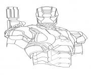 Iron Patriot a4 avengers marvel coloring pages