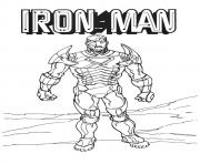 The Fierce Iron Man a4 avengers marvel coloring pages
