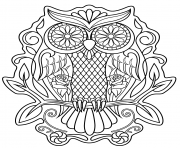 sugar skull owl calavera coloring pages
