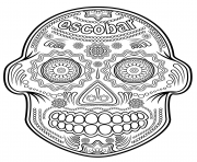 escobar sugar skull calavera coloring pages