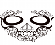 Printable sugar skull hot calavera coloring pages