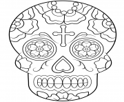 Printable calavera sugar skull calavera coloring pages