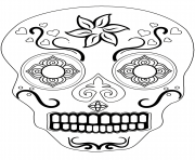 sugar skull 1 calavera coloring pages