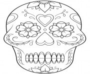 sugar skull 2 calavera coloring pages