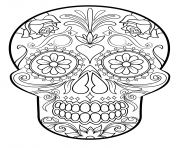 sugar skull 3 calavera coloring pages