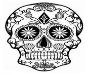 Printable simple sugar skull calavera coloring pages