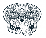 Printable sugar skull advanced calavera coloring pages