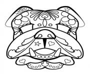sugar skull bear calavera coloring pages
