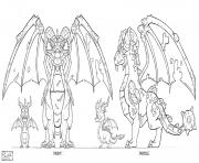 Dragon city Dragon Guardian Earth Ortho coloring pages