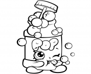 Printable Season 7 Funny Shopkins Pops Bubble Blower coloring pages
