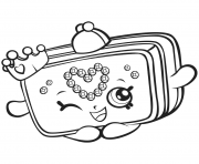 Printable Season 7 Shopkins Princess Purse coloring pages