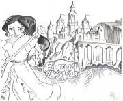Printable chateau kingdom elena of avalor coloring pages