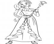 Princess Elena And Storytime Guitar Disney Free Coloring Pages