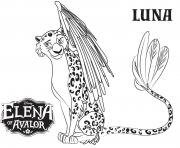 Printable Elena Of Avalor Luna coloring pages