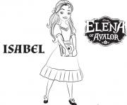 Printable isabel elena of avalor disney princess coloring pages