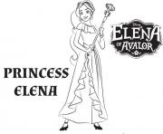 Printable princess elena of avalor de disney coloring pages