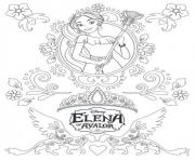 Printable zentangle mandala elena of avalor disney coloring pages