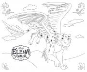 Printable Elena of Avalor Jaquin disney princess coloring pages
