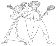princess elena and mateo disney princess coloring pages - Elena Coloring Pages