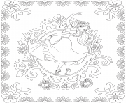Printable Elena of Avalor Colouring Page Dance coloring pages