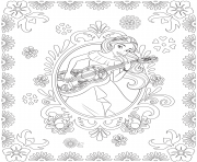Printable Princess Elena and Storytime Guitar disney princess Free coloring pages