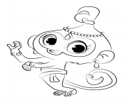 Drawing Tala from Shimmer and Shine coloring pages