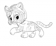 Print Tiger Nahal from Shimmer and Shine Coloring coloring pages