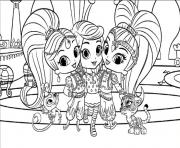 Printable Leah, Shimmer and Shine coloring pages