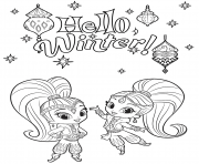Shine and Shimmer Winter Coloring coloring pages