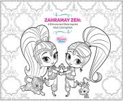 Print Zahramay Zen Shimmer and Shine Adult Coloring coloring pages