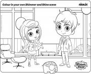 Colour in your own Shimmer and Shine Scene coloring pages