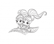 Shimmer & Shine Printable coloring pages
