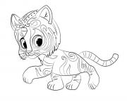 Shimmer And Shine Nahal coloring pages