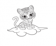 Shimmer and Shine Nahal Printable coloring pages