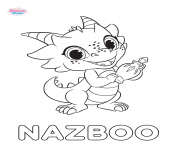 Shimmer And Shine Nazboo coloring pages