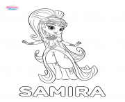 Printable Shimmer And Shine Samira coloring pages