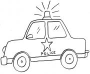 police car draw kid coloring pages