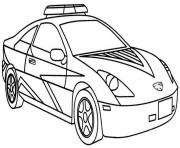 Print Cool police car coloring pages