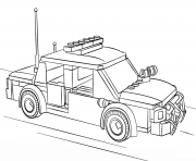 Print lego police car city coloring pages