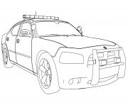 Print new police car dodge charger coloring pages
