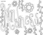 word kindness coloring pages