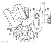 word laugh coloring pages