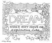 dream word coloring pages