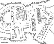 charity word coloring pages