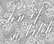 word doodles adult swear coloring pages
