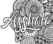 asshole word adult coloring pages