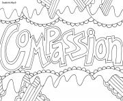 Printable compassion word coloring pages